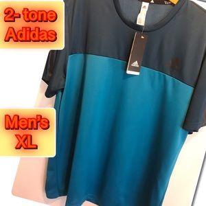Adidas 2-tone Workout Men's Shirt 2X Brand New